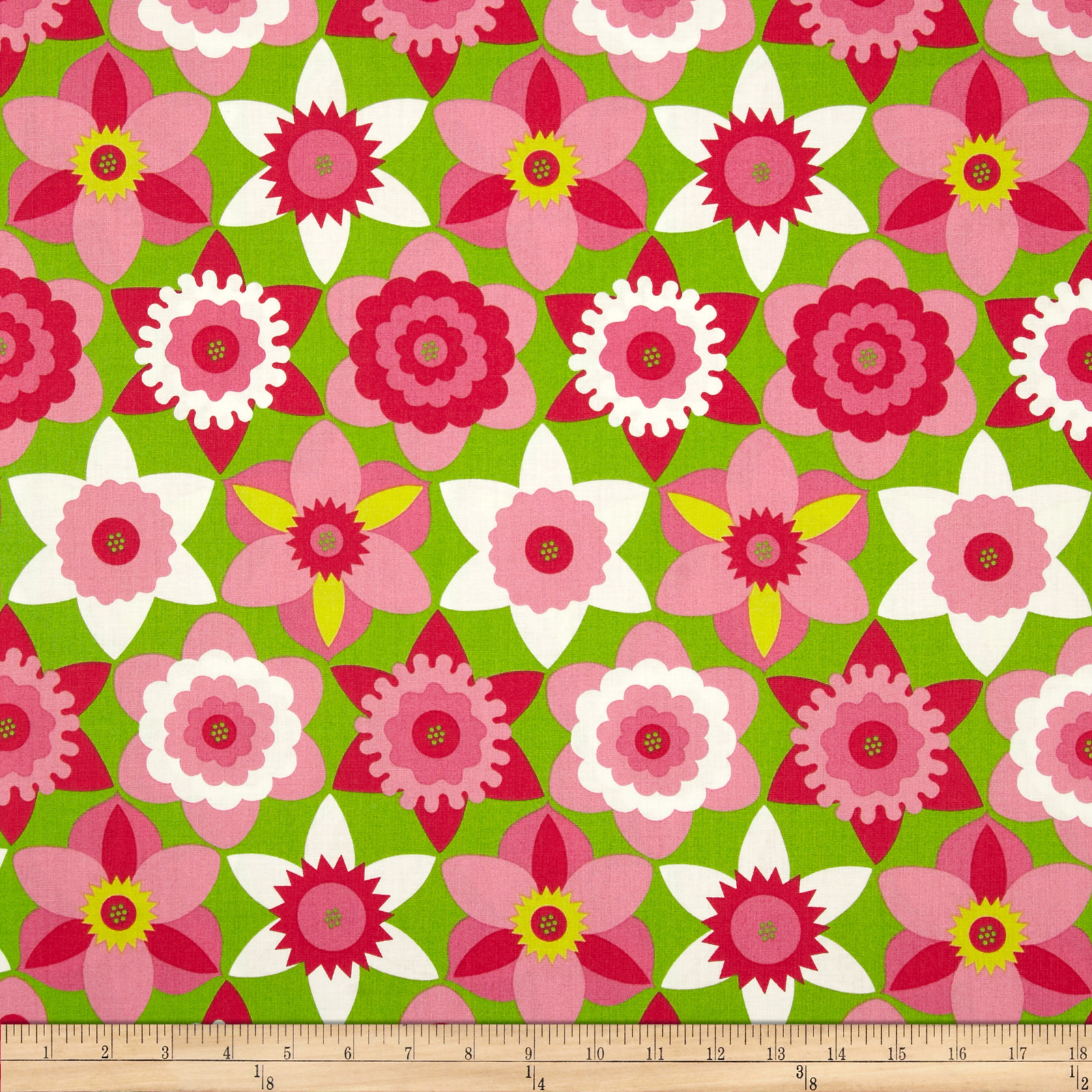 Sweet Lady Jane Daffy Down Dilly Rose Fabric