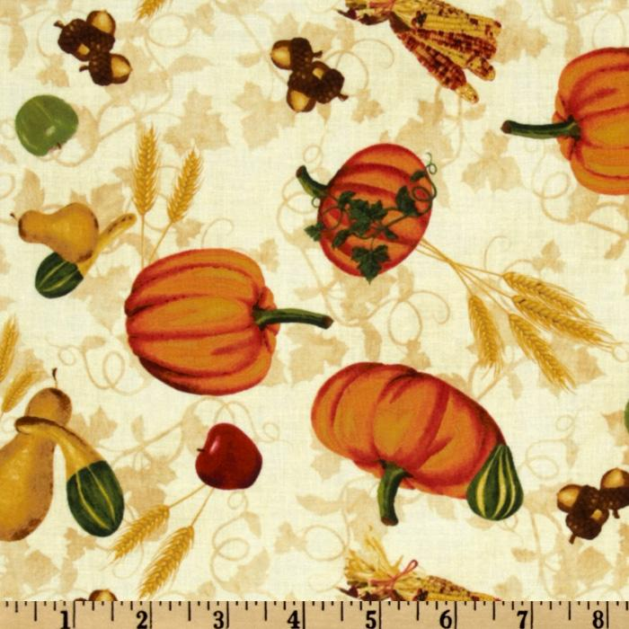 Beauty of Autumn Harvest Toss Ivory