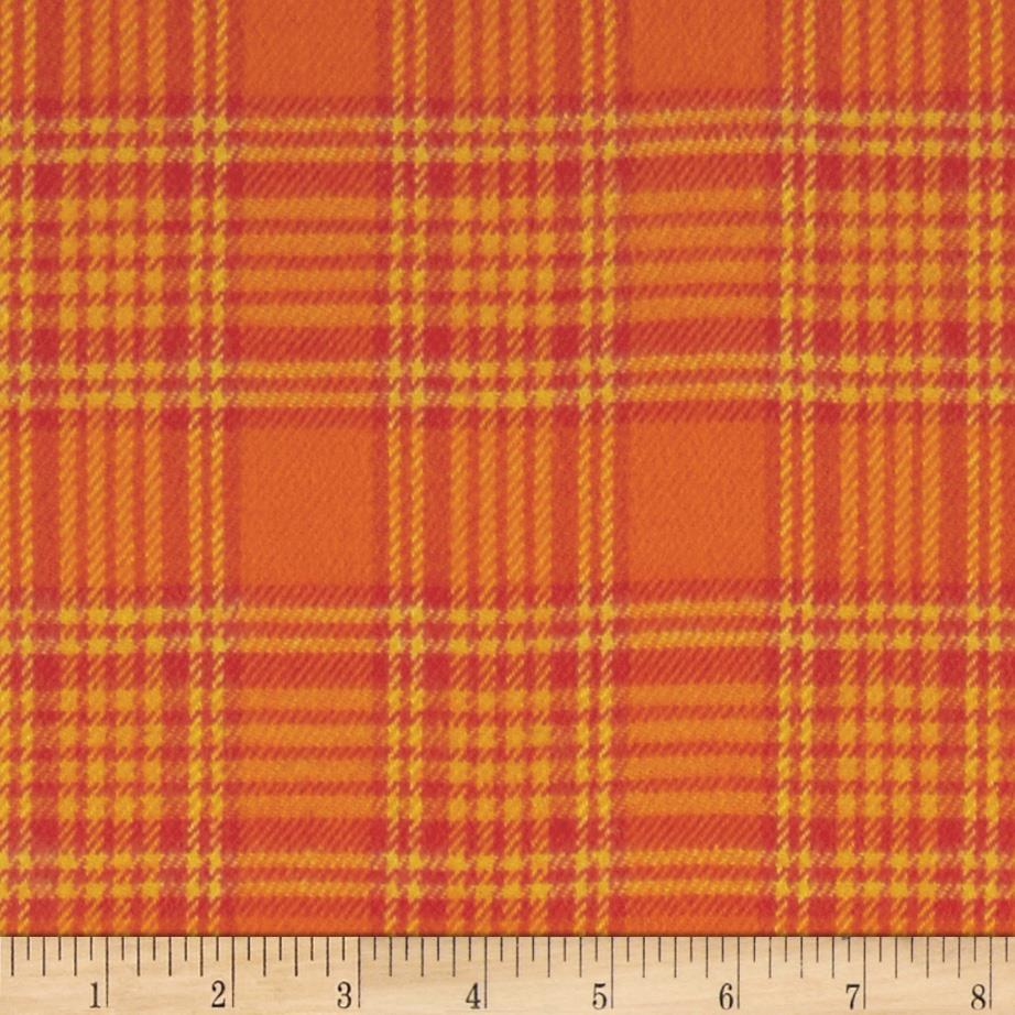 Primo Plaids Harvest Flannel Box Plaid Orange