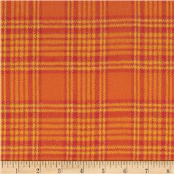 Primo Plaids Harvest Flannel Box Plaid Orange Fabric