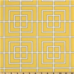 Dwell Studio Indoor/Outdoor Fretscene Canary Fabric