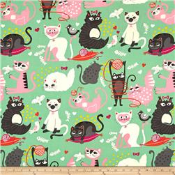 Alexander Henry Nicole's Prints Whiskers Green