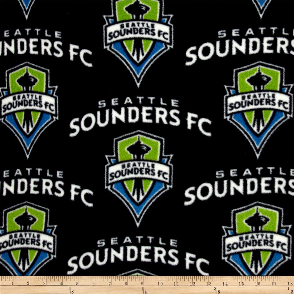 MLS Fleece Seattle Sounders Navy/Green Fabric By The Yard