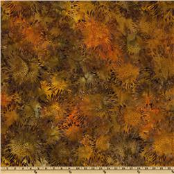 Artisan Batik Cornucopia 4 Sunflowers Medium Harvest Orange
