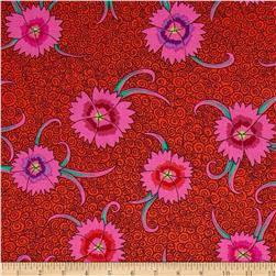 Kaffe Fassett Dianthus Red Fabric