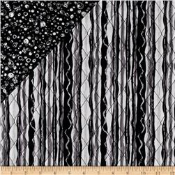 Black & White Double Sided Quilted Stripe