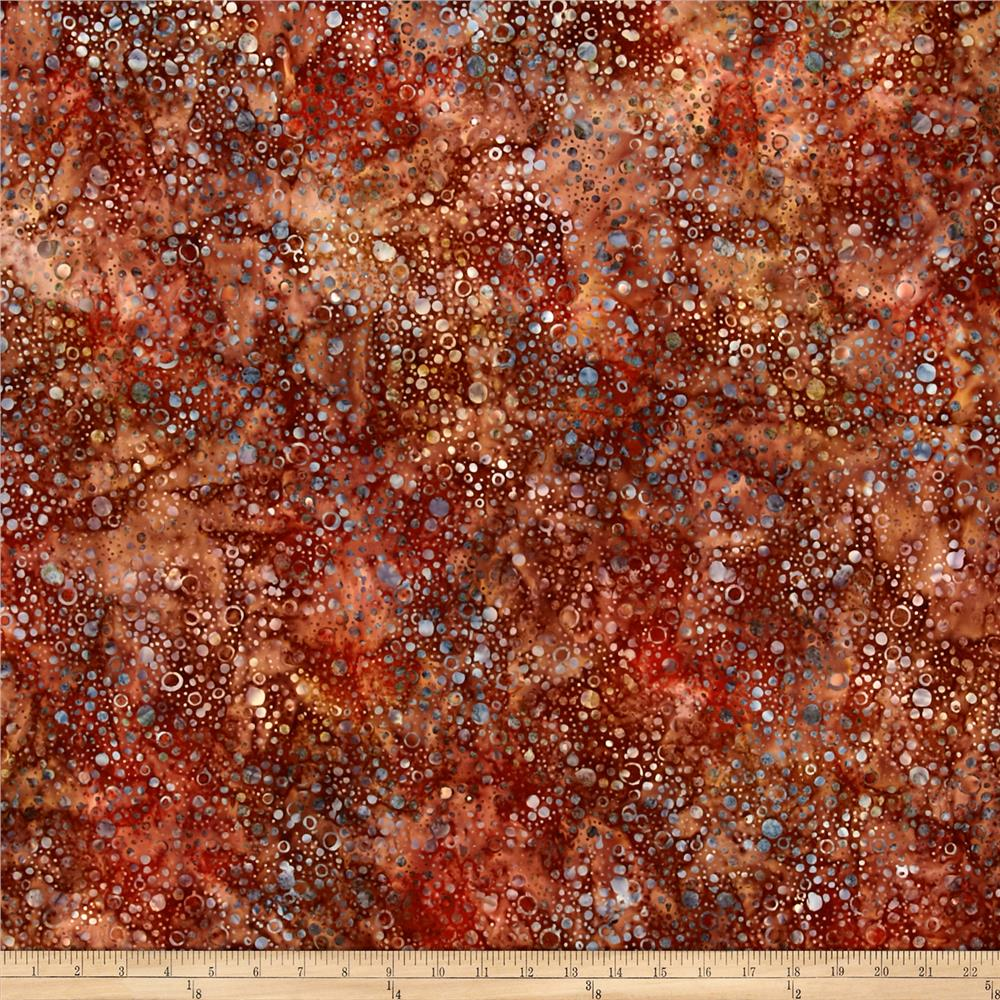 Wilmington Batiks Splash Dots Dark Rust/Multi