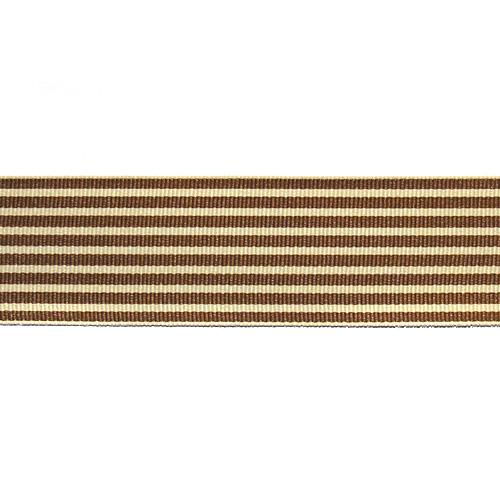 "1.5"" Grosgrain Stripes Brown/Ivory"