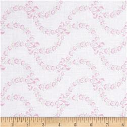 Treasures by Shabby Chic Ballet Rose Floral Swag & Bows Pink