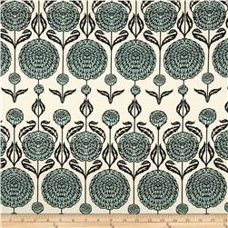 Joel Dewberry Birch Farm Home Decor Sateen Chrysanthemum EggBlue