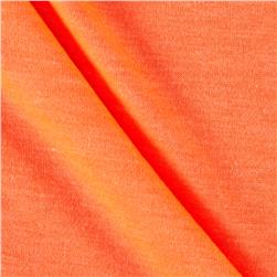 Polyester Jersey Knit Solid Neon Tangerine