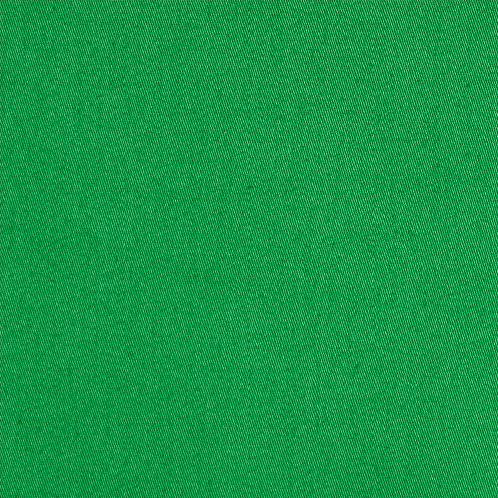 Stretch Woven Cotton Solid Shamrock Green
