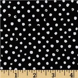 Confetti Dot Black Fabric