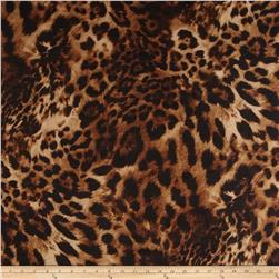 Chiffon Cheetah Print Brown/Tan Fabric