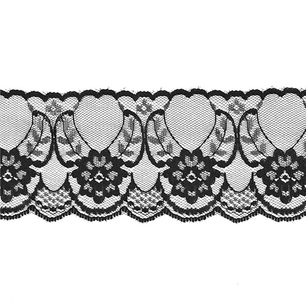 "2-1/2"" Chantilly Lace Trim Black"