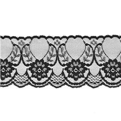 2-1/2'' Chantilly Lace Trim Black