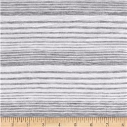 Jersey Knit Mini Gray Stripe on White