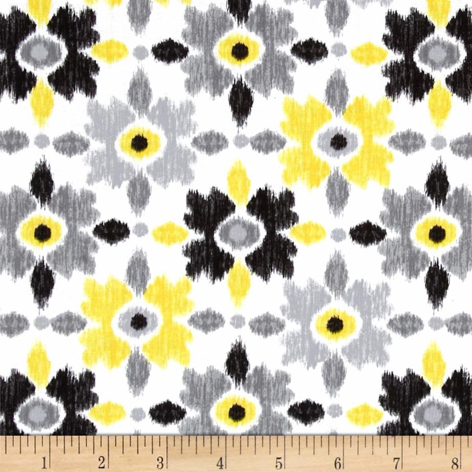 Contempo Cosmopolitan Ikat Flower Yellow