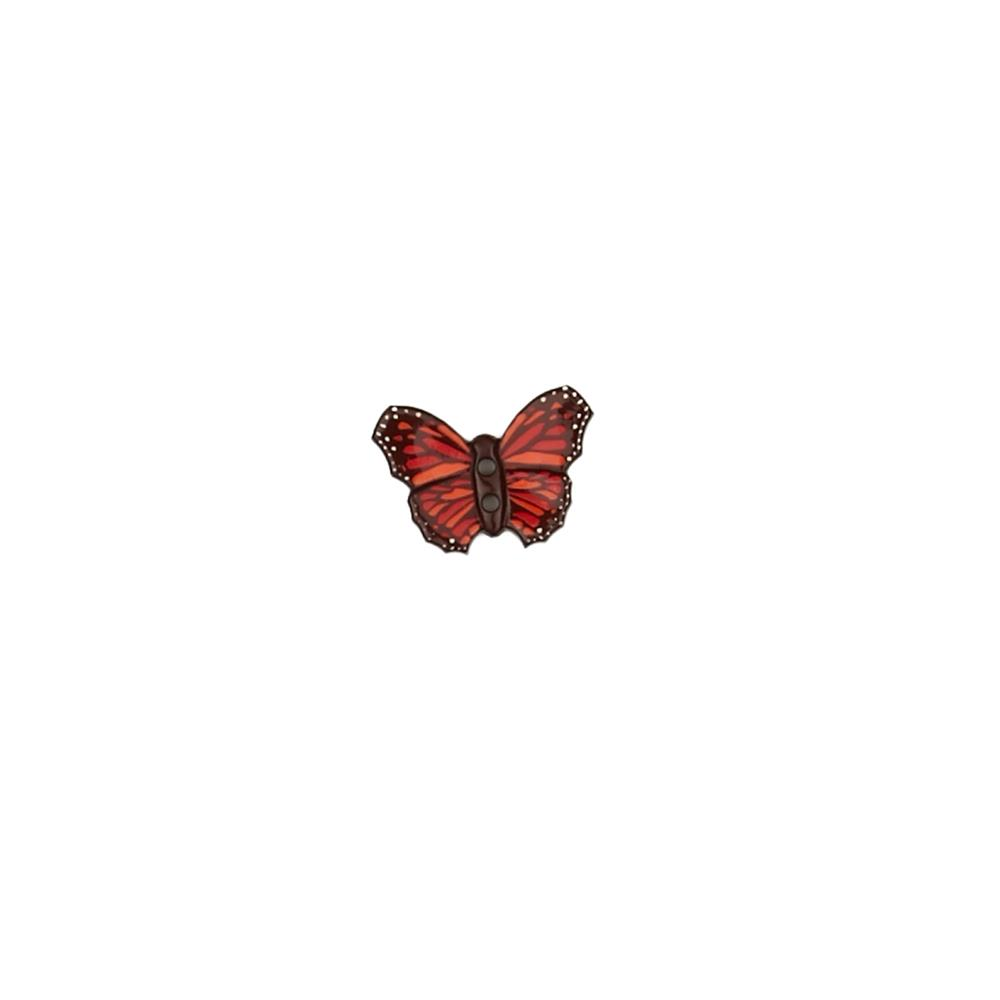 Dill Novelty Button 1-1/8'' Butterfly Brown
