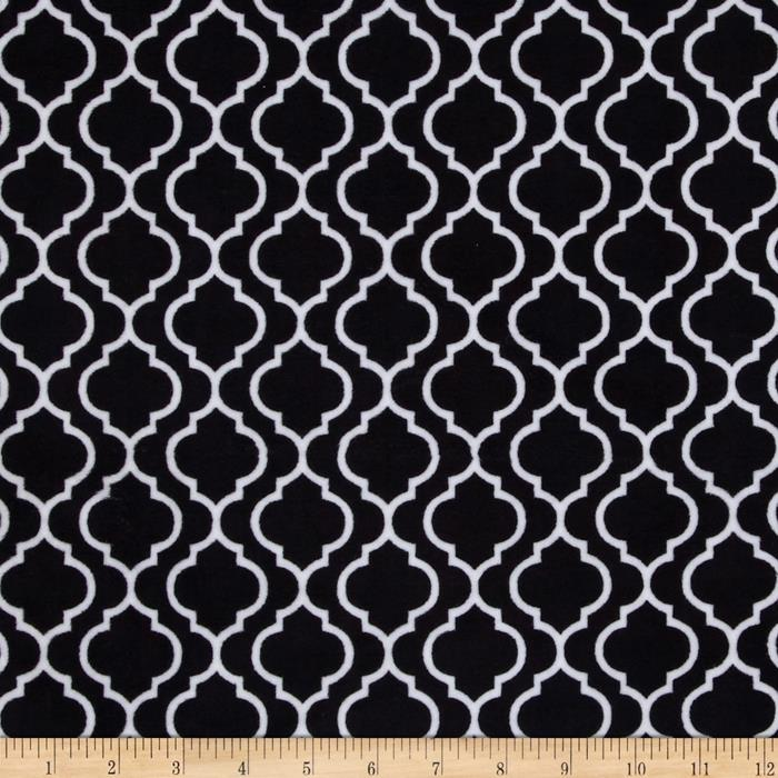 Minky Trellis Cuddle Black