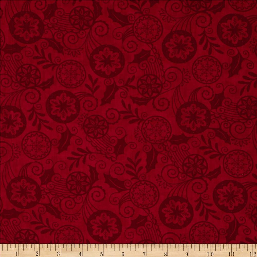 Moda Christmas Countdown Holiday Monotones Berry Red