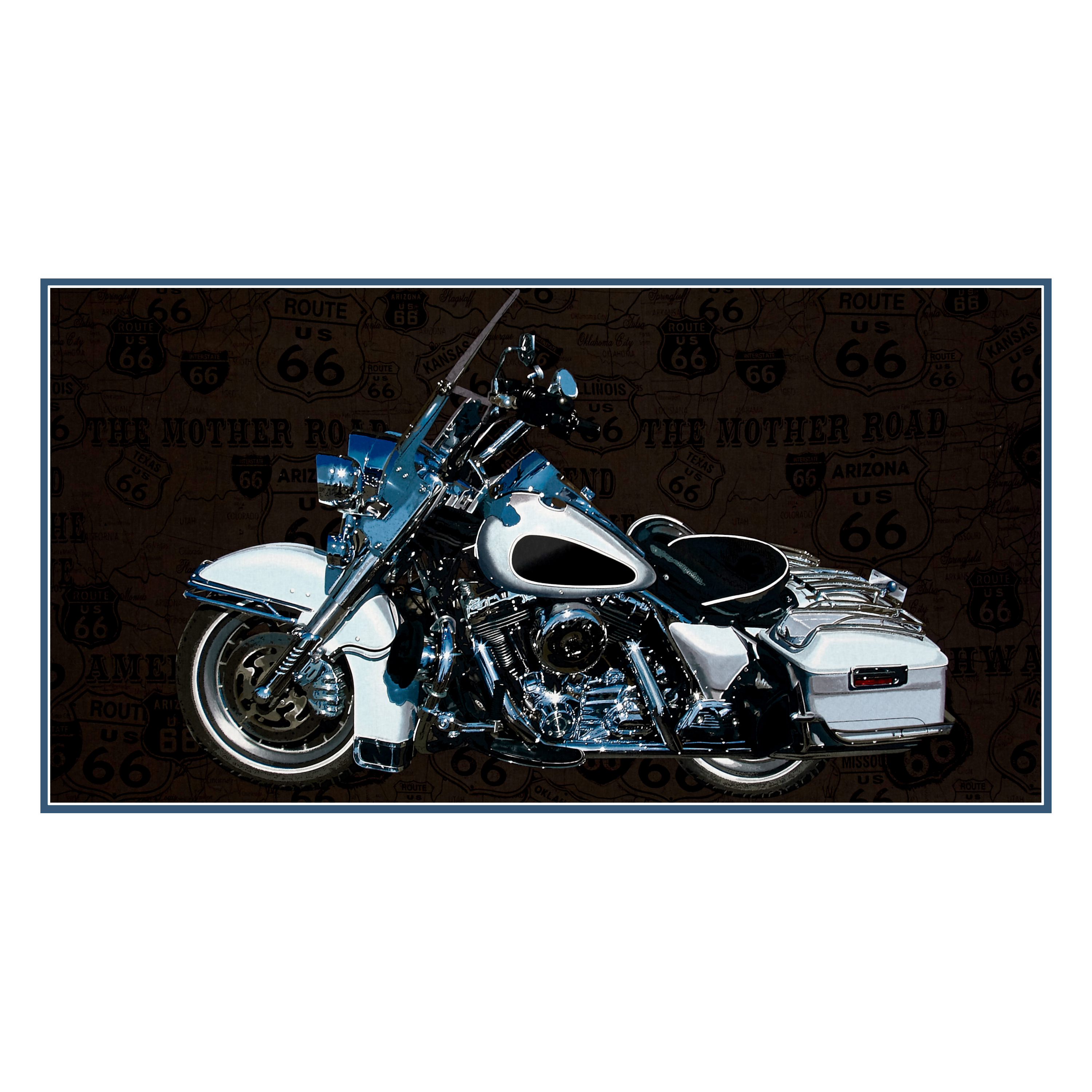 Image of Jean Poult American Dream 23'' Motorcycle Panel Gray Fabric