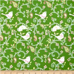 Love & Joy Dottie Birds Green