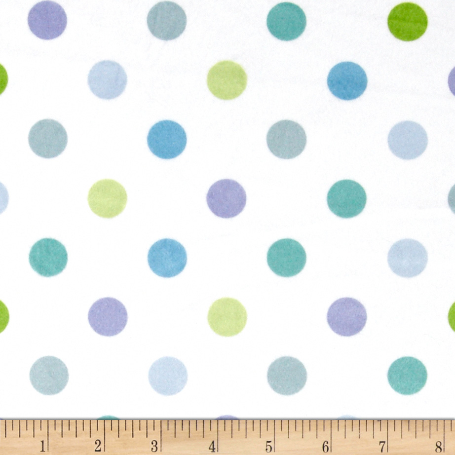 Minky Dot Marbles Blue Fabric