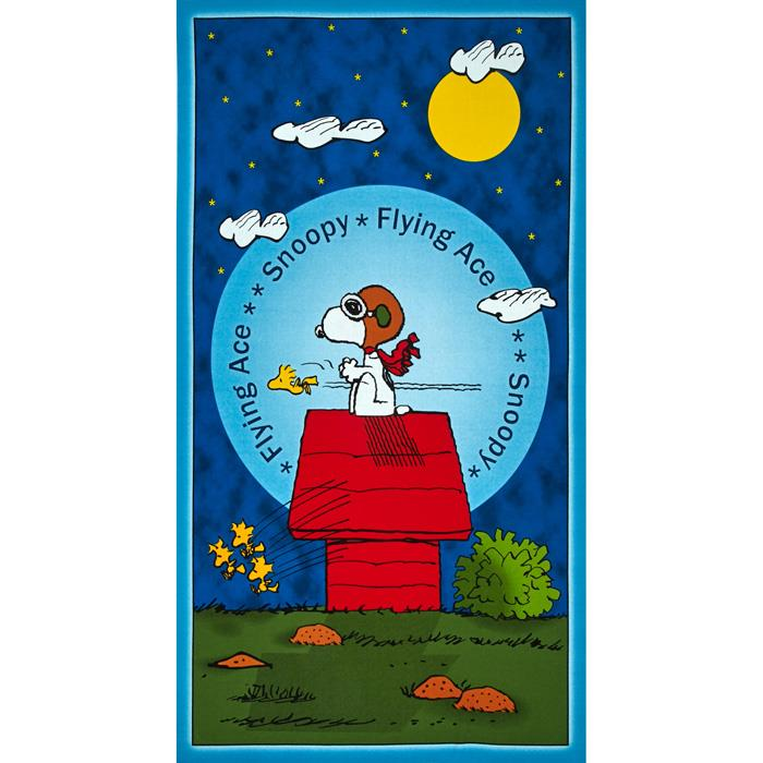 Snoopy Flying Ace Flying Ace Panel Blue