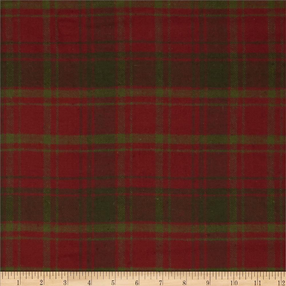 primo plaids flannel christmas ii plaid plaid redgreen discount designer fabric fabriccom - Christmas Plaid