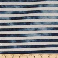 1/2'' Medium Stripe Jersey Knit Blue