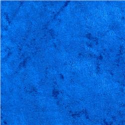 Crushed Panne Velour Royal Blue