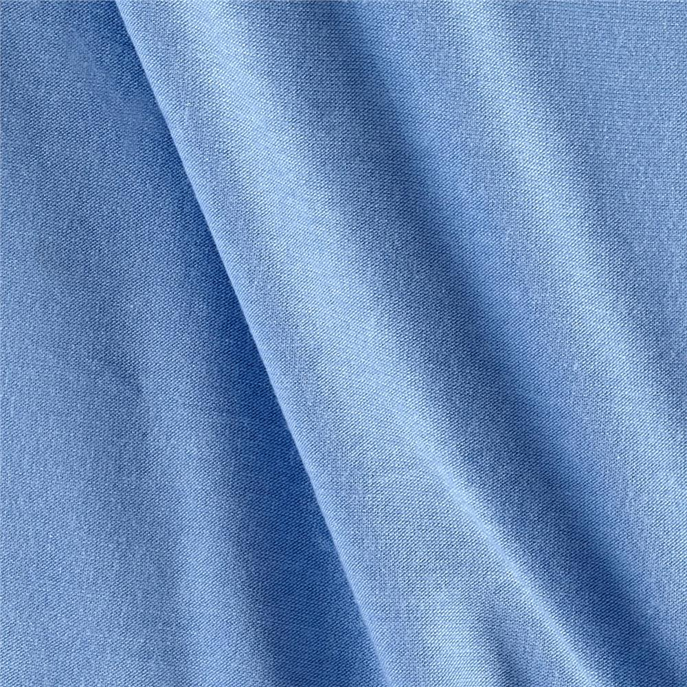 Jersey Knit Solid Powder Blue Fabric By The Yard
