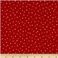 Moda Merry Scriptmas Snow Flurries  Christmas Red
