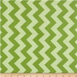 Riley Blake Laminate Medium Chevron Tone on Tone Green