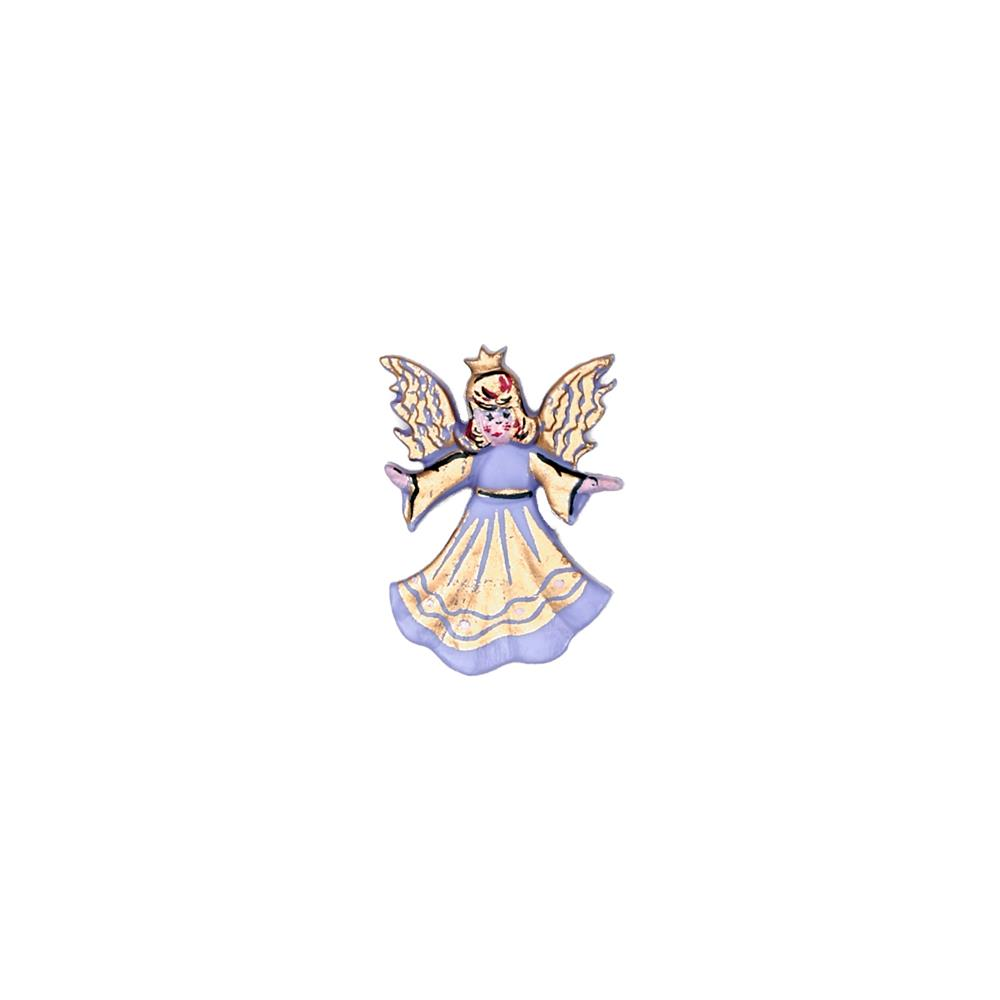 "Dill Novelty Button 1"" Angel Lilac/Gold"