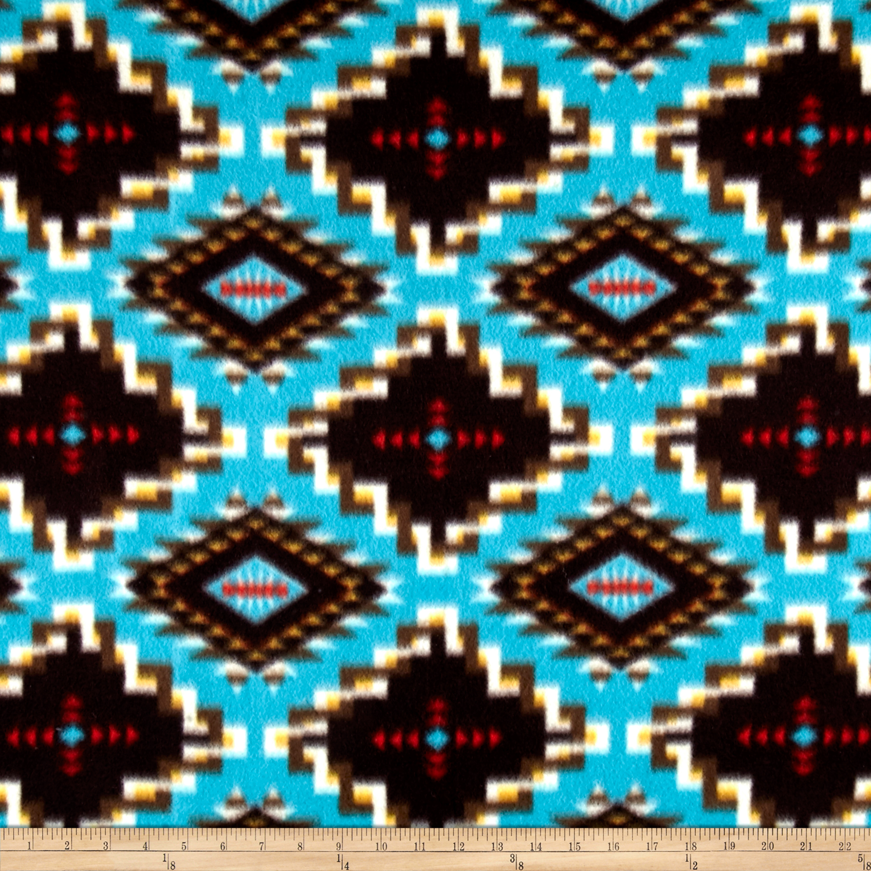 Winter Fleece Spirit Link Turquoise Fabric by Windham in USA