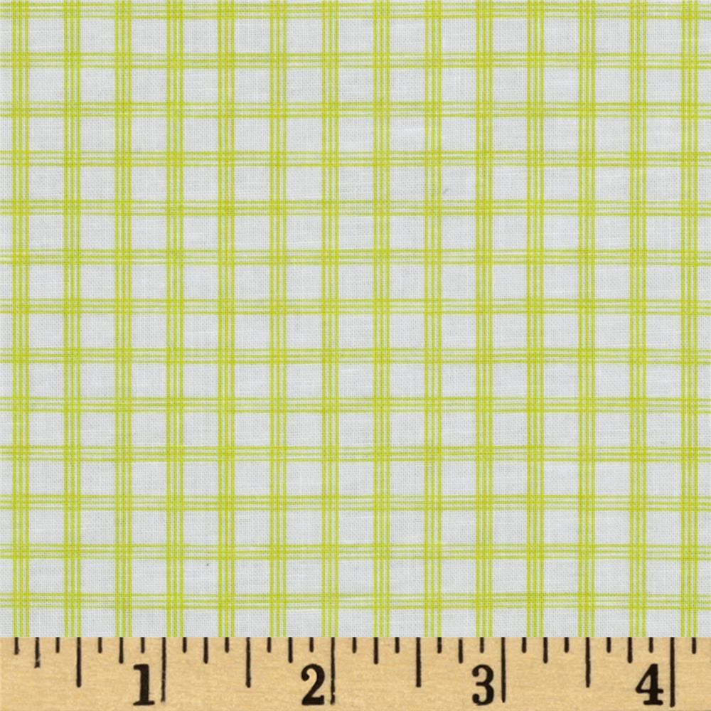 Citrus Tattersall Plaid Lime