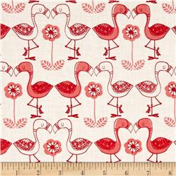 Jungly Flamingos White