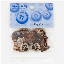 Dress It Up Embellisment Buttons  Alley Cat