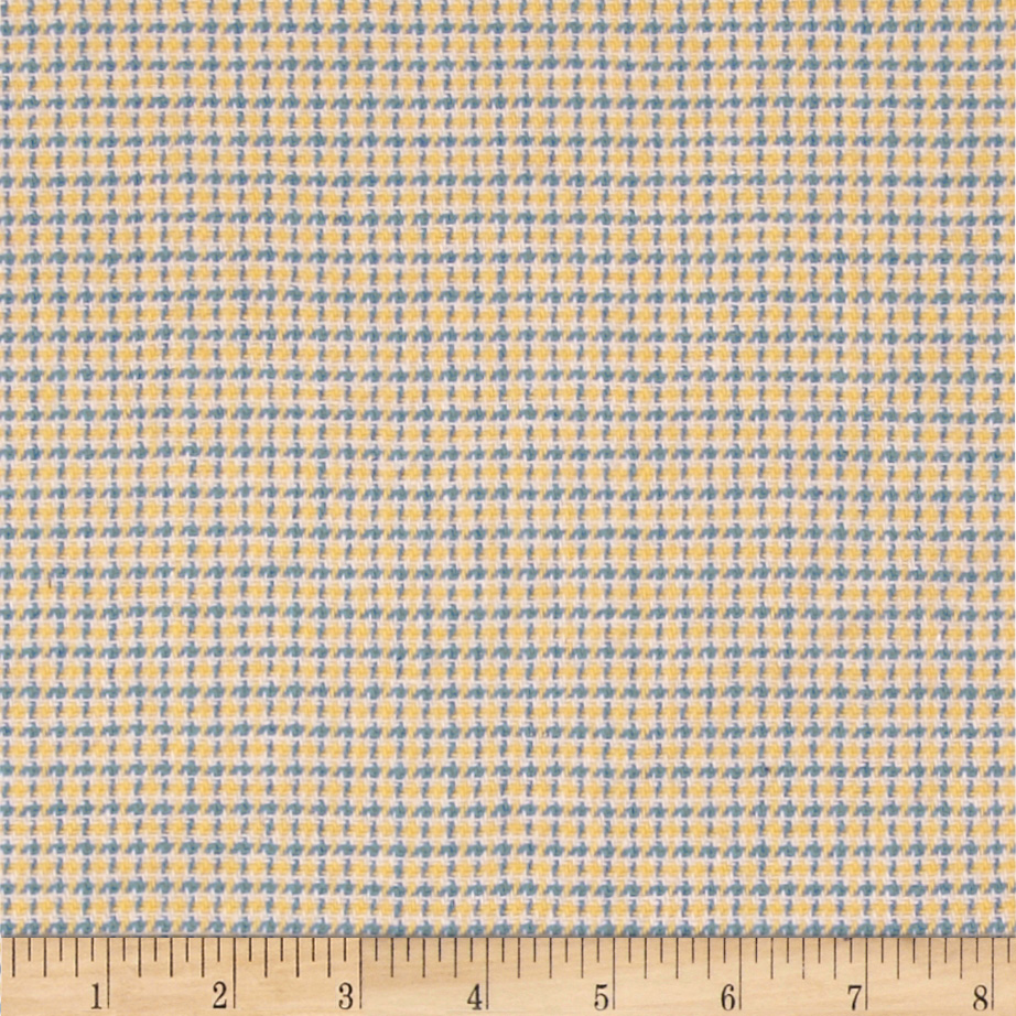 Wool Blend Suiting Checked Yellow/Blue Fabric