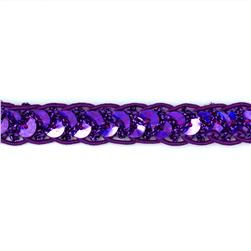 1/2'' Sequin Cord Braid Trim Purple