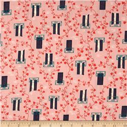 Cotton & Steel Homebody Window Vine Pink