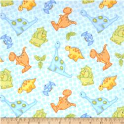 The Land Before Time Flannel Dino All Over Blue