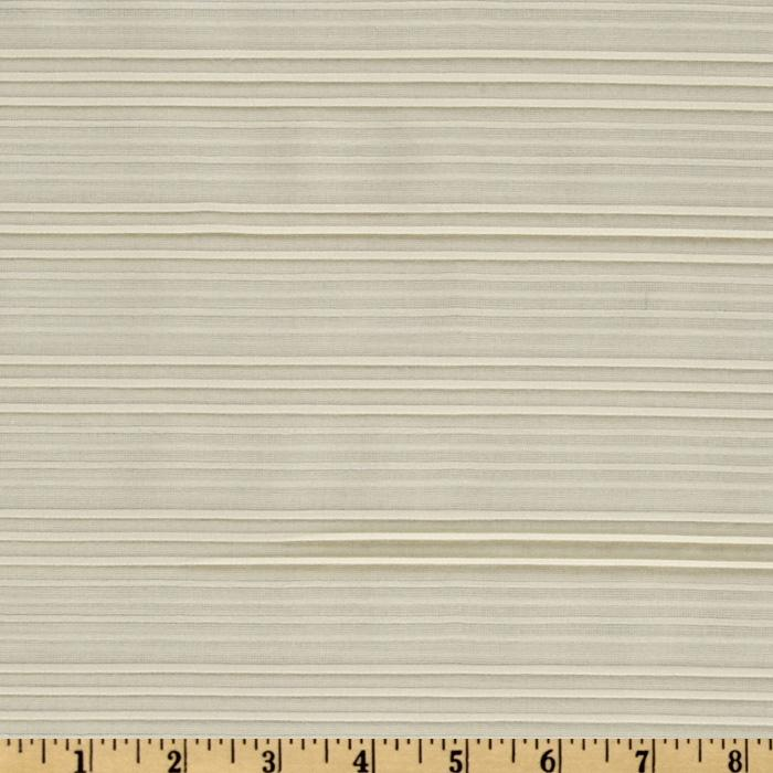 Kaufman Dobby Stripe Shirting Ivory