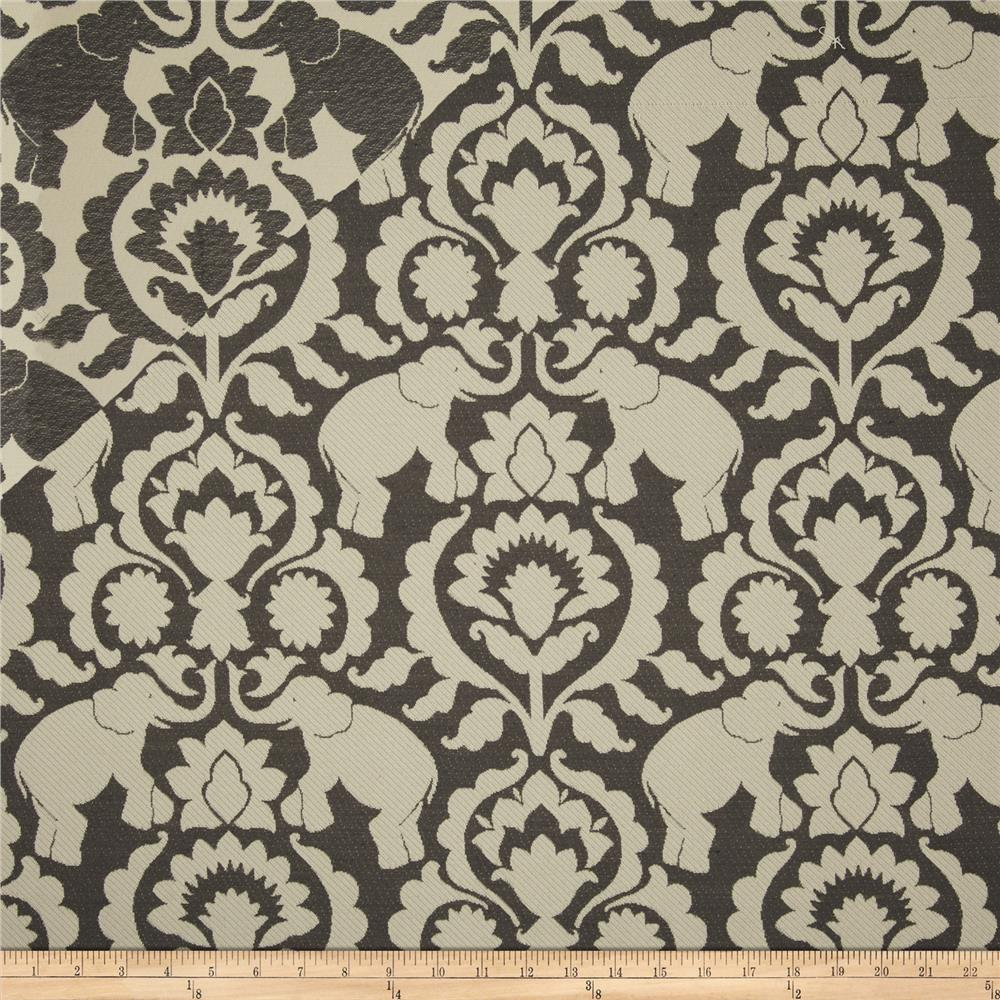Covington Babar Elephants Jacquard Gustav Grey