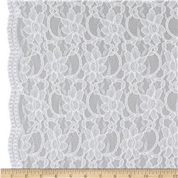 Xanna Floral Lace Fabric White