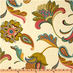 Covington Savannah Paisley Cream Fabric