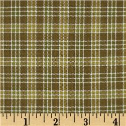 Yarn-Dyed Plaid Shirting Sage/Tan
