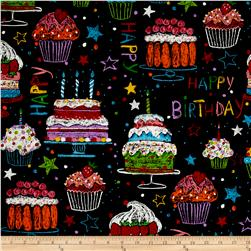 Alexander Henry Nicole's Prints Happy Birthday Black